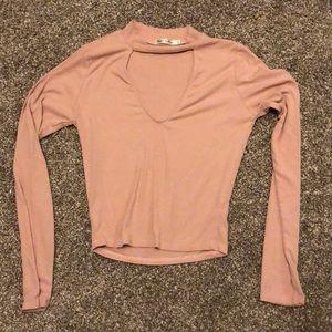 Long Sleeve Cutout Shirt